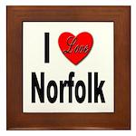 I Love Norfolk Framed Tile