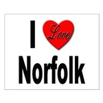 I Love Norfolk Small Poster