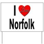 I Love Norfolk Yard Sign