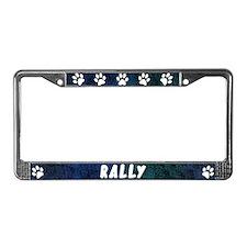 Paw Print Rally License Plate Frame (Blues)