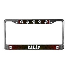 Paw Print Rally License Plate Frame (Red)