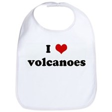 I Love volcanoes Bib