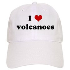 I Love volcanoes Baseball Cap