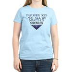 Nietzsche Quote Distressed Women's Light T-Shirt