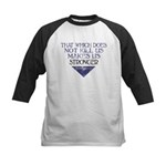 Nietzsche Quote Distressed Kids Baseball Jersey