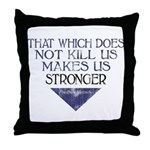 Nietzsche Quote Distressed Throw Pillow