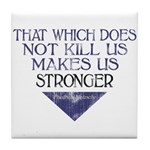 Nietzsche Quote Distressed Tile Coaster