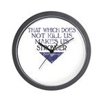Nietzsche Quote Distressed Wall Clock