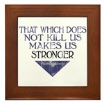 Nietzsche Quote Distressed Framed Tile