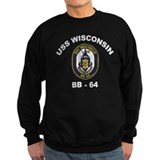 USS Wisconsin BB 64 Sweatshirt