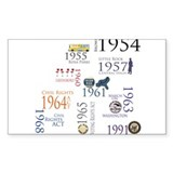 Civil Rights Timeline Rectangle Decal