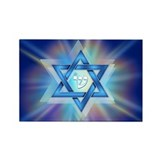 Radiant Magen David Rectangle Magnet