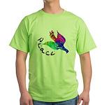Rainbow Dove Peace Green T-Shirt