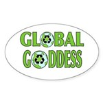 GLOBAL GODDESS (Oval) STICKER