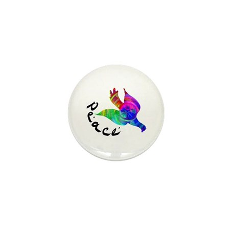 Rainbow Dove Peace Mini Button