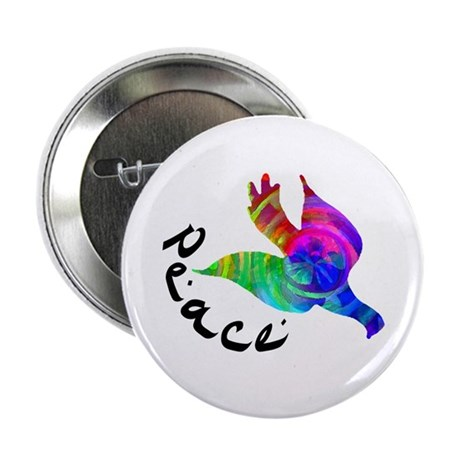 Rainbow Dove Peace Button