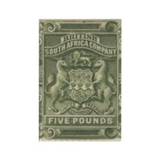 Rhodesia arms Five Pounds Rectangle Magnet