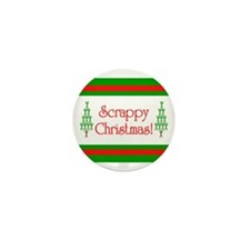 Scrappy Christmas Mini Button (10 pack)