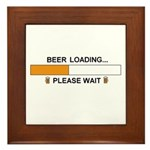 BEER LOADING... Framed Tile