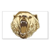 Bear Roaring Rectangle Decal