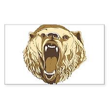 Bear Roaring Rectangle Decal