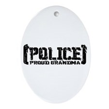 Police Proud Grandma Oval Ornament