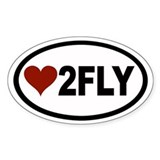 Love 2 Fly Euro Oval Decal