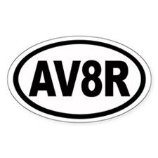 AV8R Euro Oval Bumper Stickers
