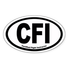 CFI Euro Oval Decal
