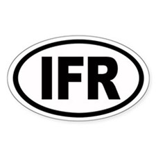IFR Euro Oval Decal