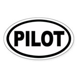 Pilot Euro Oval Decal