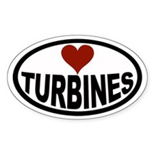 Love Turbines Euro Oval Decal