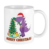 Dinosaur Christmas Mug