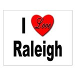 I Love Raleigh Small Poster