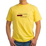 WINE LOADING... Yellow T-Shirt