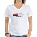 WINE LOADING... Women's V-Neck T-Shirt