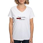 WINE LOADING... Women's V-Neck T-Shirt