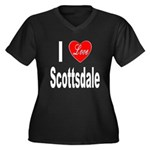 I Love Scottsdale (Front) Women's Plus Size V-Neck
