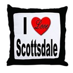 I Love Scottsdale Throw Pillow