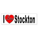 I Love Stockton Bumper Sticker (10 pk)
