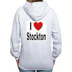 I Love Stockton (Back) Women's Zip Hoodie
