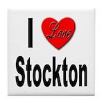 I Love Stockton Tile Coaster