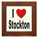 I Love Stockton Framed Tile