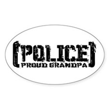 Police Proud Grandpa Oval Decal