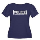 Police Proud Grandpa Women's Plus Size Scoop Neck