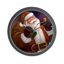 Northern Lights Christmas Santa Clock