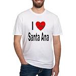 I Love Santa Ana Fitted T-Shirt