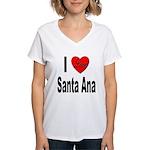 I Love Santa Ana (Front) Women's V-Neck T-Shirt