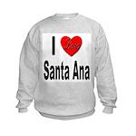 I Love Santa Ana (Front) Kids Sweatshirt