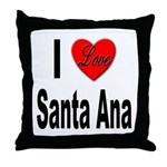 I Love Santa Ana Throw Pillow